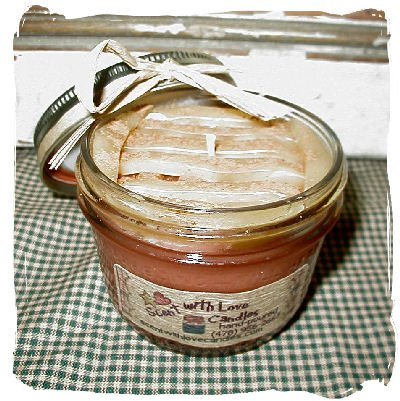 Hot Baked Applie Pie Hand Poured Candle in a Jar- 8oz