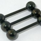 14G Tounge Blackline Barbell with Ball