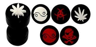 Fake Ear Plug with Emboss Logos