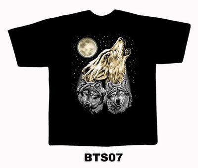 Black colour T-Shirt with Fabric Print Design