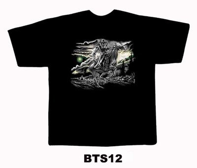 Black colour T-Shirt with Fabric printing HoarseDesign