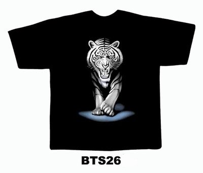 Black colour T-Shirt with Fabric printing Tiger Design
