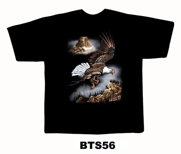 Black colour T-Shirt with Fabric printing Bird Design