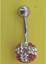 Swarovski,preciosa Crystal stone Belly Ring
