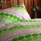 NEW luxury single / twin duvet cover set & PC 350 TC All dotz  Coll. FREE S & H WORLDWIDE