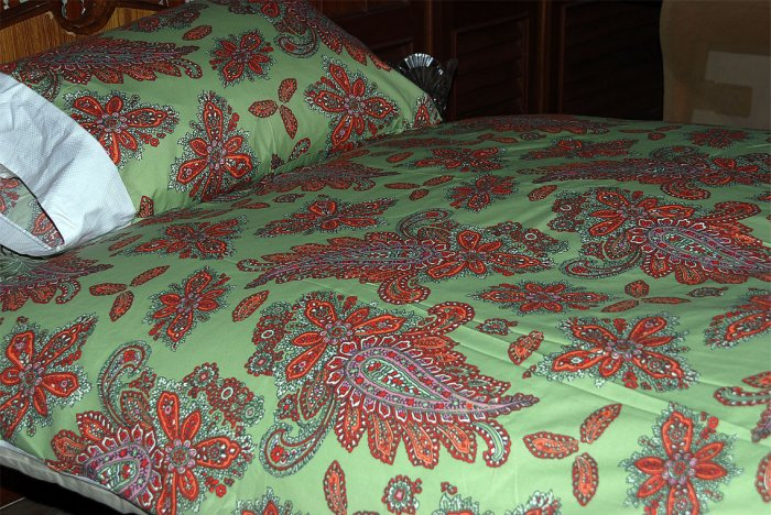 NEW luxury single / twin duvet cover set & PC 350 TC  Vana Paisley. FREE S & H WORLDWIDE