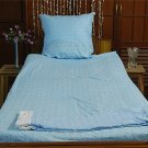 New Luxury single / twin cotton flannelle sheet set with pillowcase 300 gsm. Angeliq planes blue