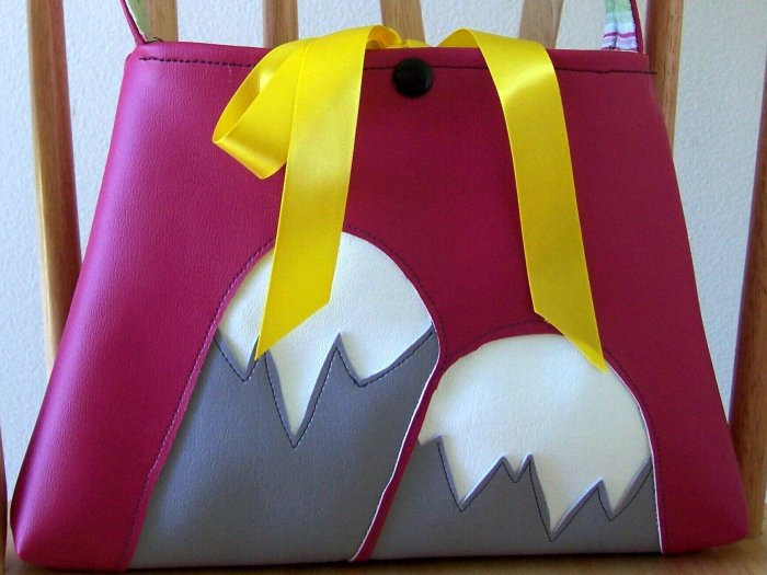 Boutique Vinyl Purse Snow Capped Mountains