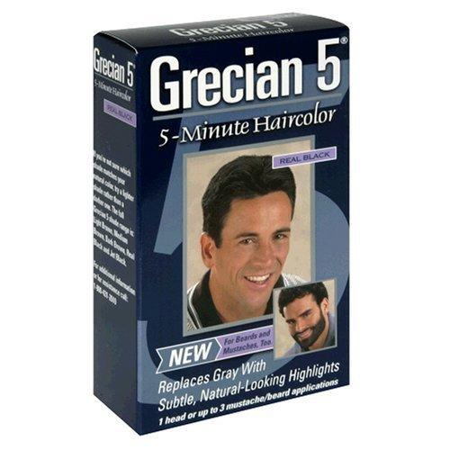Grecian 5 5-Minute Haircolor, Real Black