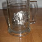 Clear Glass Dog Stein