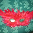 Red feathers mask