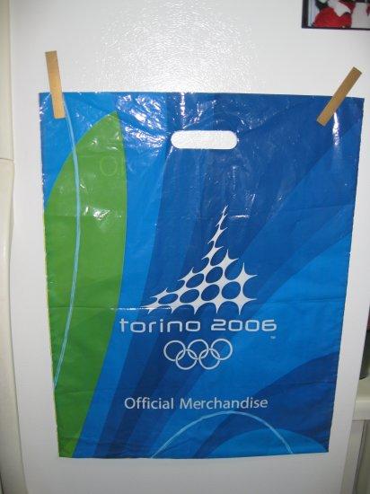 Original Torino 2006 Olympic Games Plastic Bag