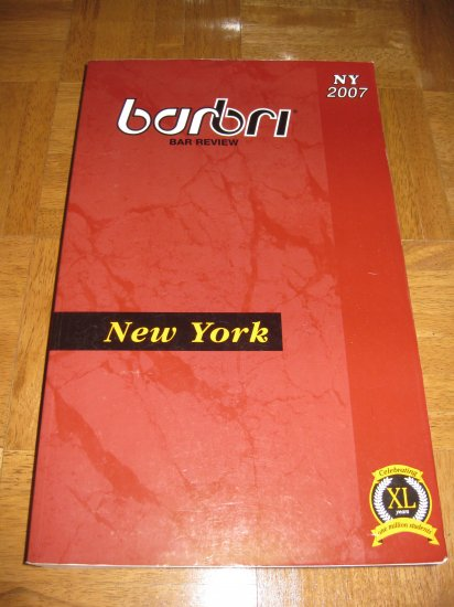 BarBri New York  2007. Brand New