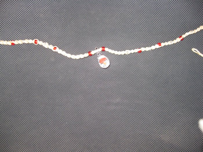 Necklace with a little mushroom charm