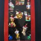 10 piece blown glass ornament set