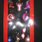 10 piece blown glass ornament set - fashion