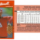Card #319 Todd Worrell