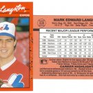 Card #338 Mark Langston
