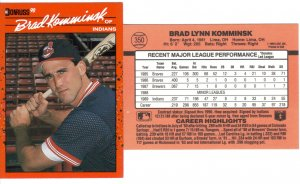 Card #350 Brad Komminsk