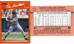 Card #419 Tim Laudner