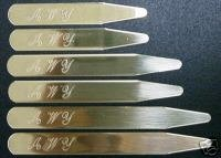 18 PIECE SET OF SOLID BRASS SHIRT COLLAR STAYS-3 SIZES