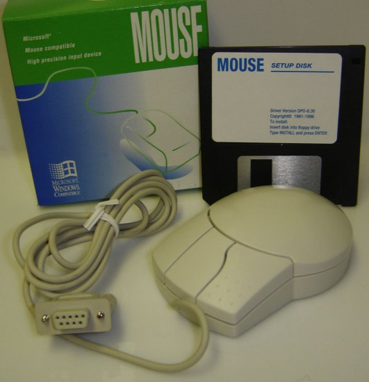 Serial Mouse-High Precision Dynamic Tracking-Microsoft Mouse Compatible