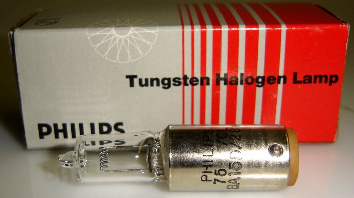 BA15D/28V Philips Tungsten Halogen Lamp Original