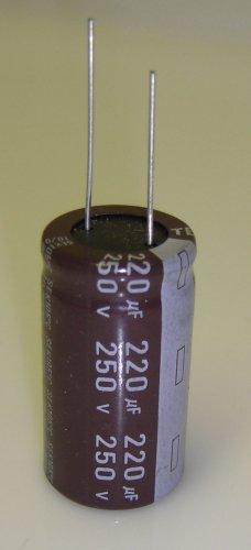 220uF-250V Teapo SEK 105C Aluminum Electrolytic Radial Lead 3/Pack
