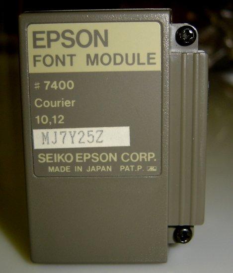 7400 Epson Courier Font Module