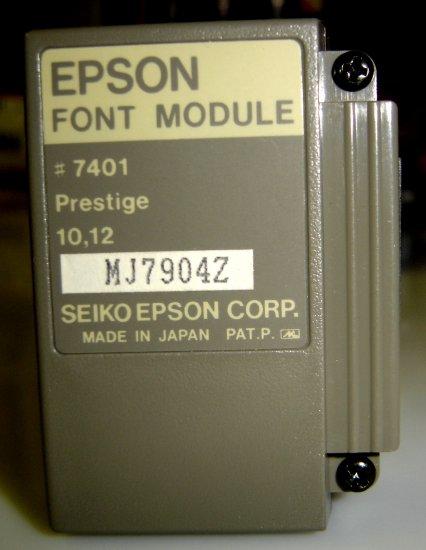 7401 Epson Prestige Font Module