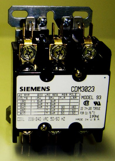 CDM3023 Siemens Model 93 Contactor DP 30A (Industrial)/40A (Residentiao)