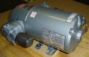 5HCD-10-M520X GAST COMPRESSOR OIL-LESS 100PSIG W/GE MOTOR, 5K47SG1656V