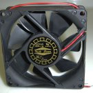 DC Case Fan - D80SM-12A Fan 80mm x 80mm x 25mm w/Two Wires