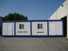 38' Modular Container for Office, Security/Surveillance, Storage, Etc.
