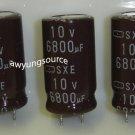 6800uF-10V SAMYOUNG SXE ELECTROLYTIC CAPACITORS 3 PCS!