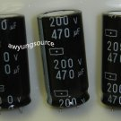 470uF-200V SAMYOUNG ELECTROLYTIC CAPACITORS 3 PCS!