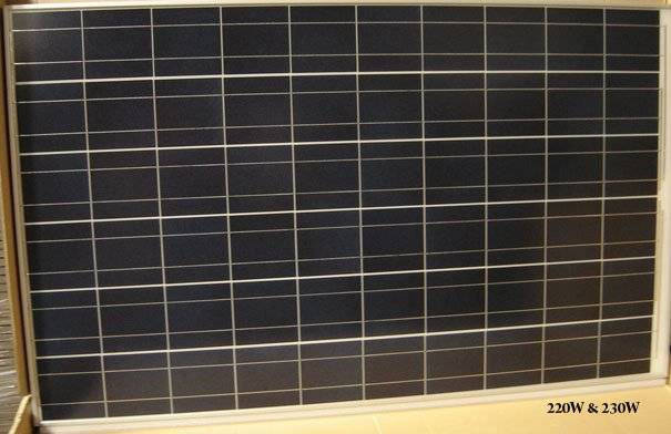 SOLAR PANELS - 230W FACTORY DIRECT - MULTI/MONO CRYSTALLINE HIGHEST QUALITY 20' CONTAINER