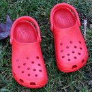 CROCS SHOES BEACH RED MEDIUM SIZE M6/7-W8/9! BRAND NEW!