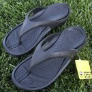 CROCS SHOES ATHENS (FLIP-FLOPS) BLK/BLK MENS 7 / WMNS 9