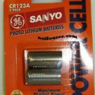 CR123A SANYO 2-PACK BRAND NEW & ORIGINAL LITHIUM-ION