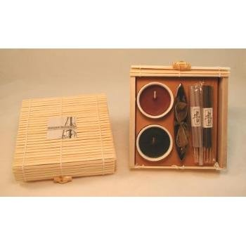 Lot of 12 Incense Sets in Bamboo Box