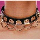 Leather Multi Ring Choker - Item B13