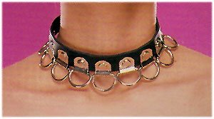 Leather Multi Ring Choker - Item B13