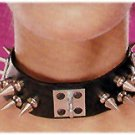 Leather Choker with Spikes - Item B18
