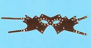 Leather Studded Mask - Item B342