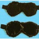 Leather Faux Fur Blindfold - Item 9015L