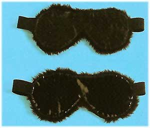PVC Faux Fur Blindfold - Item 9015P