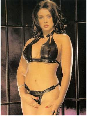 """Leather """"U"""" Choker with Thong - Item 2031"""