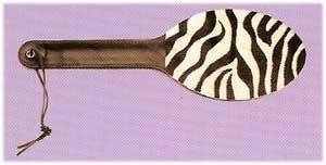 Zebra Leather Paddle - Item Z71