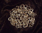 "ChainMaille (Jewelry) Supplies~100 Stainless Steel Jump Rings .041g-1/4""ID *FREE WORLDWIDE SHIPPING"